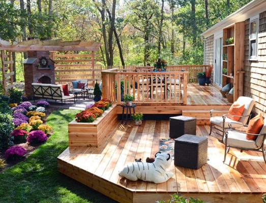 backyard decking after